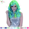 2016 cheap synthetic wigs halloween women blue pink ombre wig