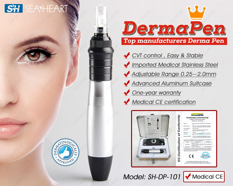 Hete schoonheid dermapen 2016/micro- needling derma pen 3mm