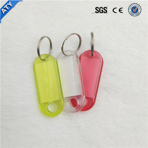 ID Label Name Tags Plastic Keychain With Split Ring