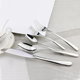 Silver plated cutlery flatware set in stainless steel, names of cutlery set items