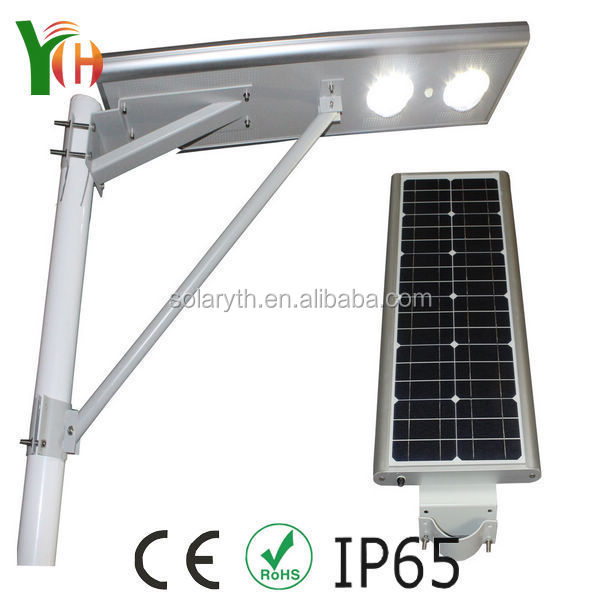 Solar Pole Lighting Part - 30: Solar Power Energy Street Light Pole,7-8m High Quality 30/40/60w Integrated  All In One Led Solar Street Light With Best Price - Buy Led Solar Street  Light ...