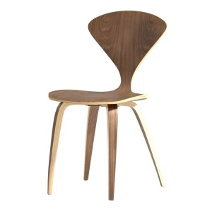 norman cherner side chair replica designer furniture walnut laminated molded plywood norman churner chair