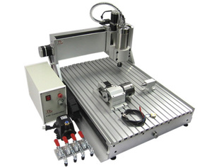 Hot 800W spindle 4 axis cnc router 6040 Z VFD milling machine for marble wood acrylic metal China cnc lathe machine