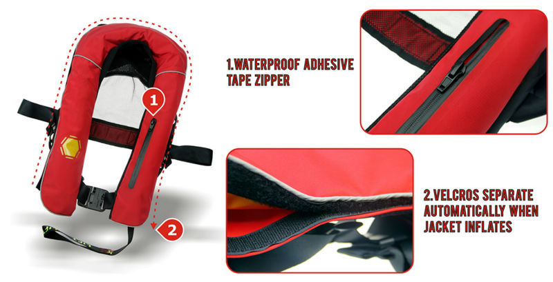 Portable Life Vest : Ce approved inflatable life jacket portable