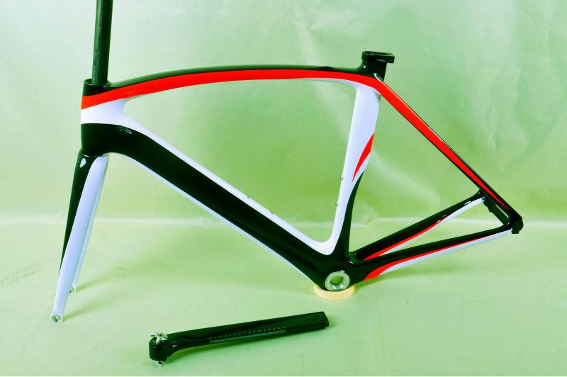 Hermosa Cuadro De La Bicicleta De Fibra De Carbono Suciedad Patrón ...