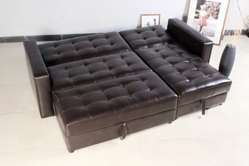 Made In China Hot Sale Corner Leather Sofa Cum Bed - Buy Corner ...