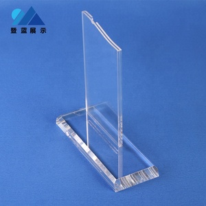 Hot sale custom A4 A5 A6 size T shape tabletop clear insert acrylic plastic poster sign holder for hotel shop restaurant bar