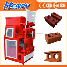 Germany technology hot sale automatic block maker machine with diesel engine, soil interlocking brick machines in uganda