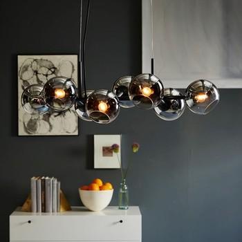 Nordic Modern Art Living Room Lamp European Creative Personality Dining Gl Chandelier