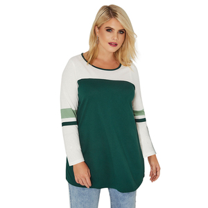 Trade Assurance Latest Design Ladies Women Clothing Color Block Long Sleeve Top White Lycra Chiffon Blouse Plus Size