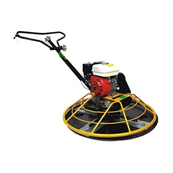 Hydraulic control gasoline powered ride-on concrete trowel machine