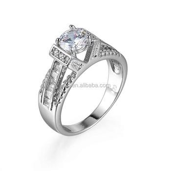 Nice Party Gift Element Zircon Ring Dubai Silver Wedding Ring