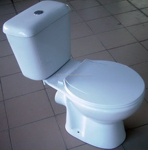 DMT-02 sanitary ware Two pieces toilet P trap, Ceramic Spraying Type Small Toilets For Children