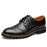 hot sale cow leather upper anti-slip rubber outsole not grind feet men genuine leather dress men office leather shoes