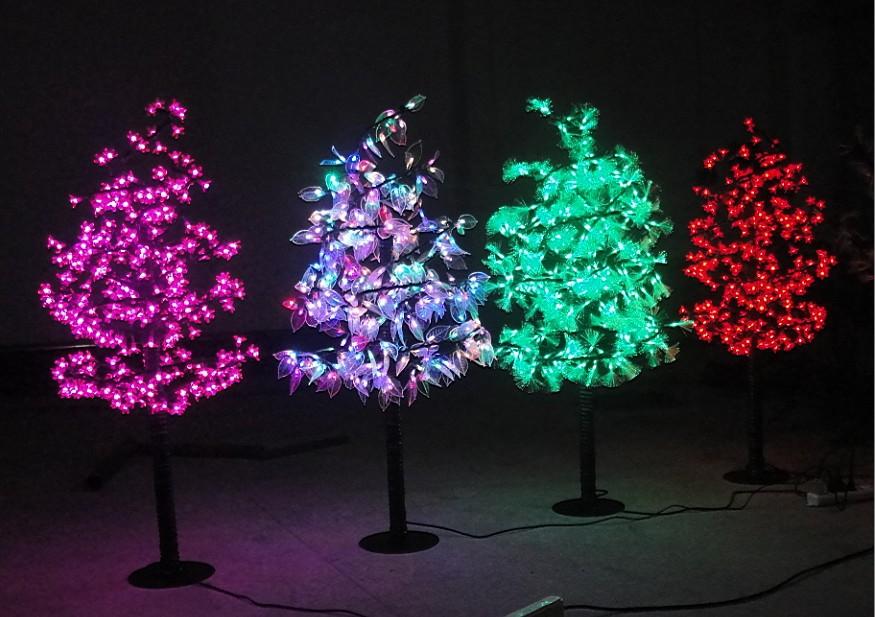 poppenhuis kerstboom glasvezel verlichting voor een poppenhuis groene boom