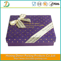 High quality packaging for food products with butterfly knot for birthday gift