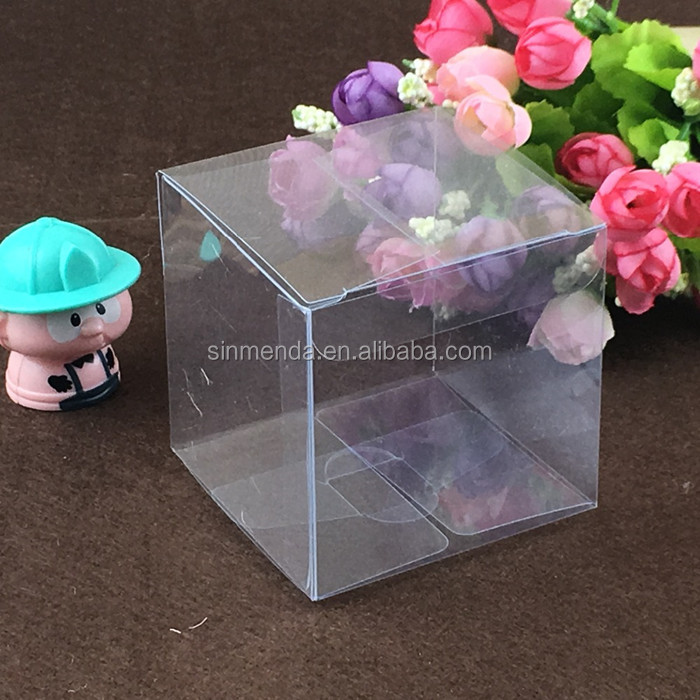 clear pet folding plastic cupcake box packaging cheap