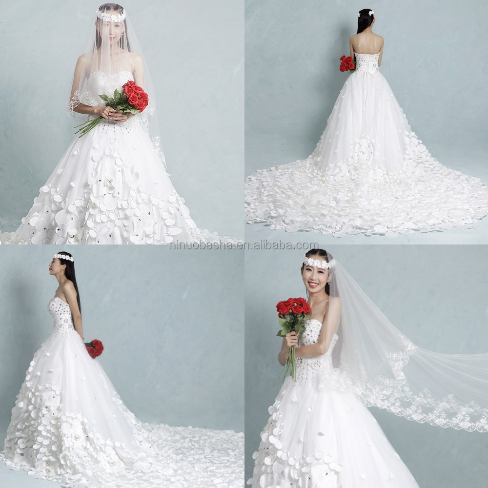 Gorgeous 2015 Ball Gown Wedding Dress Real Sample Sweetheart Tulle ...