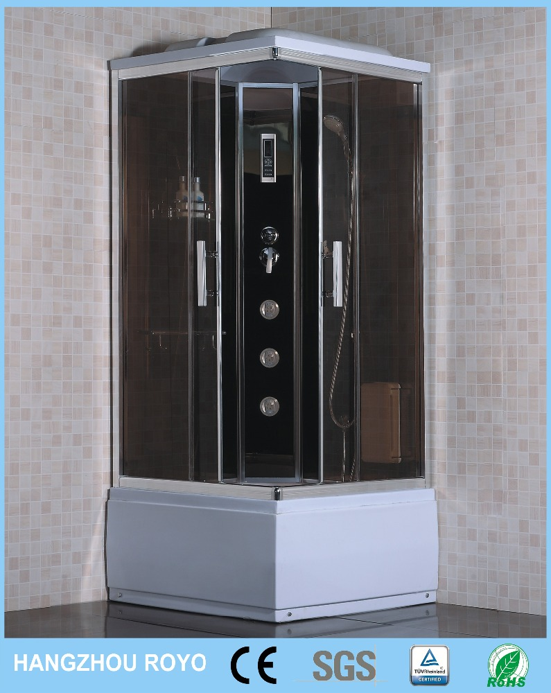 sex sliding door square shower cabins with whirlpool massage bathtub