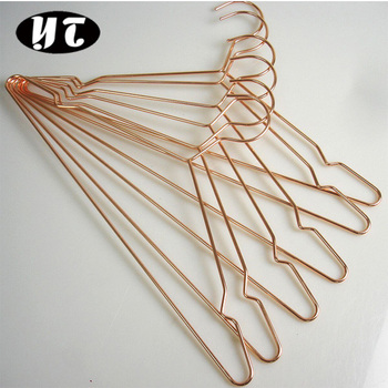 Wholesale Rose Gold Metal Hanger Heavy Duty Metal Wire Hanger With Notches    Buy Rose Gold Metal Hanger,Heavy Duty Metal Wire Hanger,Wholesale Metal  ...