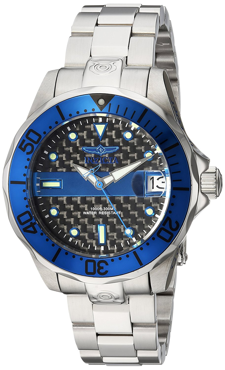 Invicta Women's 'Pro Diver' Automatic Stainless Steel Diving Watch, Color Silver-Toned (Model: 23151)