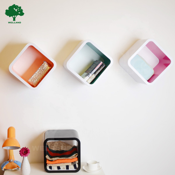 Plastic Cube Diy Cube Storage Shelf Wall Decor J