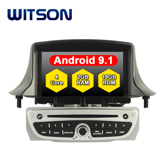 WITSON Quad-Core Android 9.1 GPS Auto DVD Player Für RENAULT Megane III Fluence 2009-2011 Auto Audio System multimedia