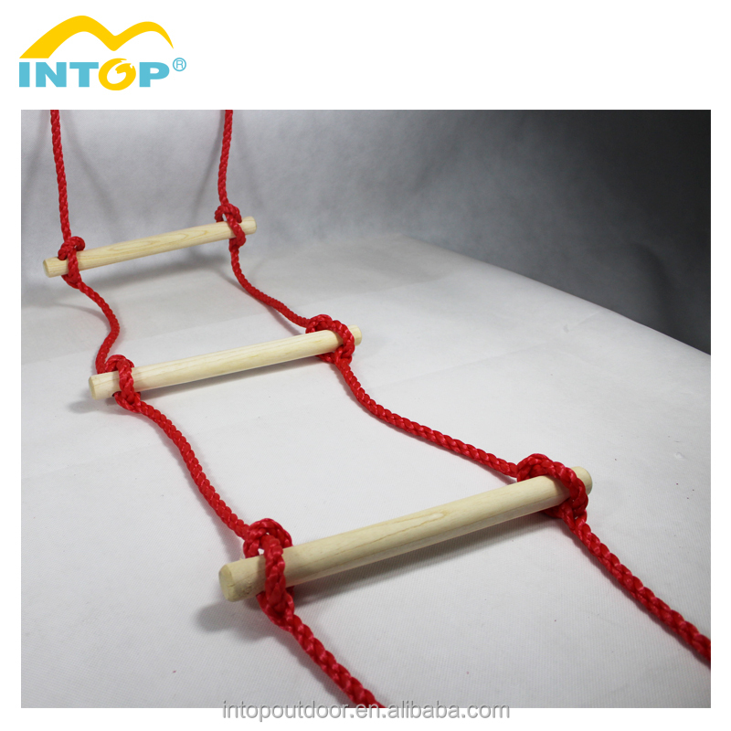 New Arrival Portable Climbing Rope Ladder Wooden Rope Ladder For Family Use