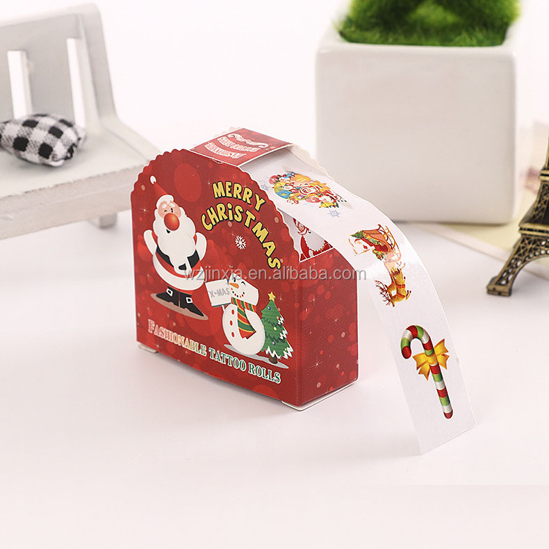 Christmas paper Roll sticker labels