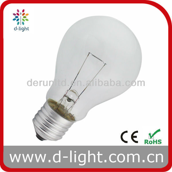 Double filament 12V Standard style A60 Incandescent clear bulb