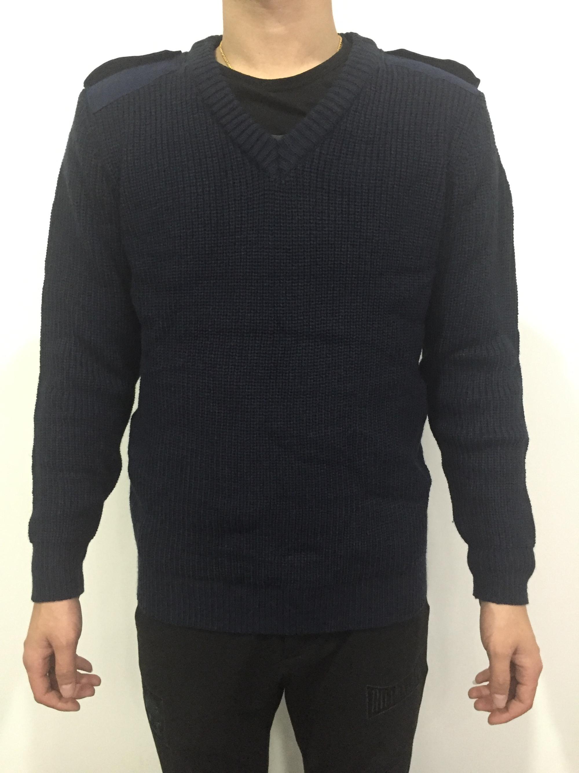 Details zu Pullover blau Polizeipullover Polizei Herren verschiedene Größen V Ausschnitt