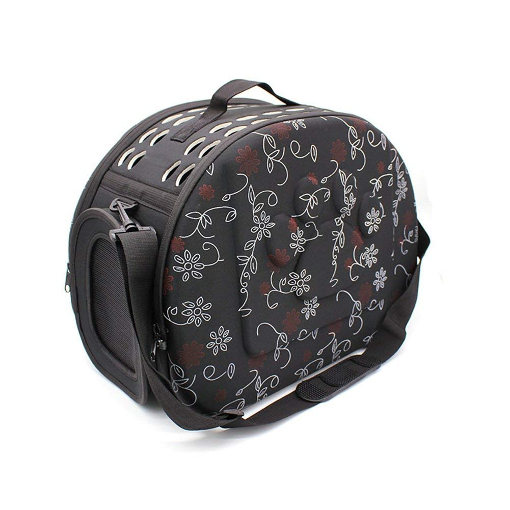 7bc702847a Get Quotations · Vedem Pet Collapsible Carrier Duffle Bag EVA Lightweight  Travel Tote Bag for Dogs Cats Rabbits