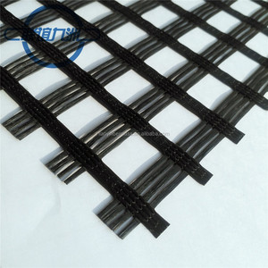 road construction Asphalt layer reinforcement Fiberglass geogrid