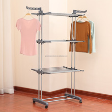 High quality pasta drying rack 3 tier metal rack for laundry dryer rack