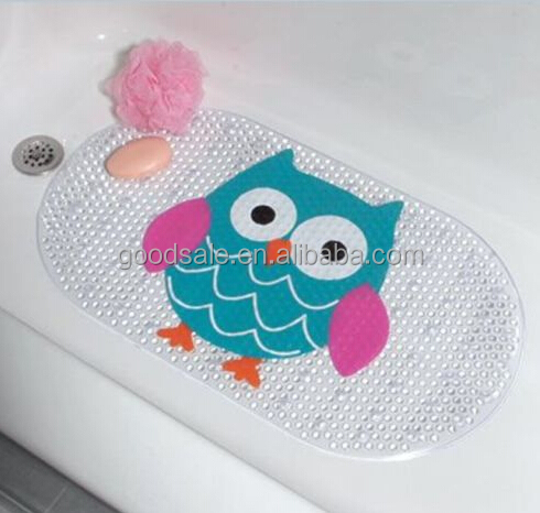 Whimsical Owl Baby Anti Slip Bath/shower Mat With Strong Suction Cup Design Ideas