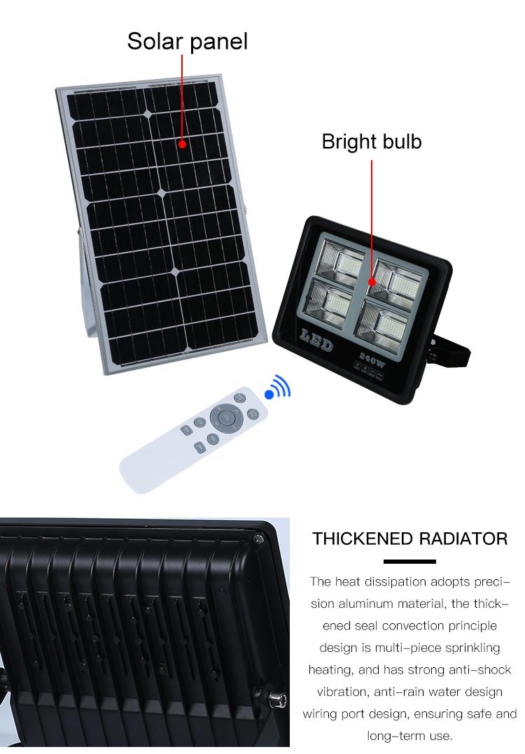 Energy saving aluminum outdoor waterproof housing ip67 25w 40w 60w 100w solar led flood light