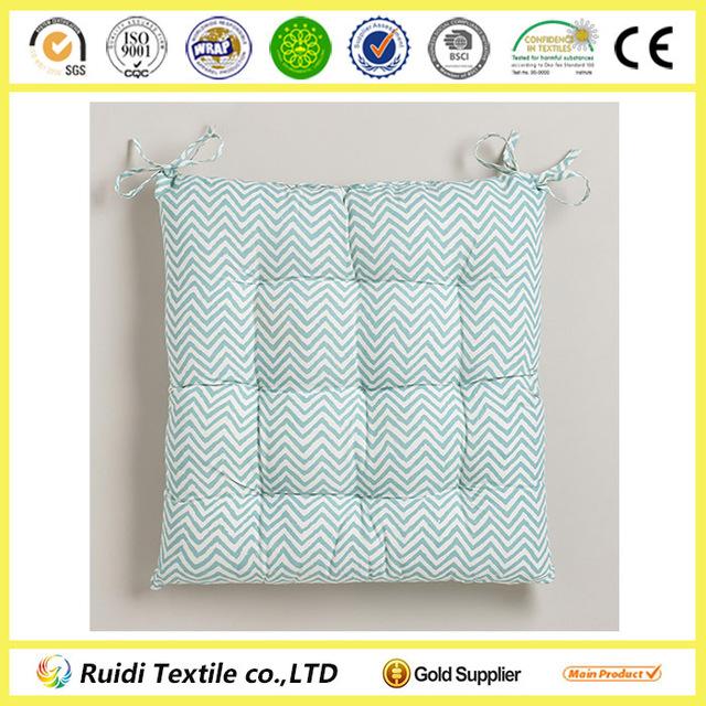 Beryl Green Chevron Yellow Chevron Chair Cushion Seat Cushion