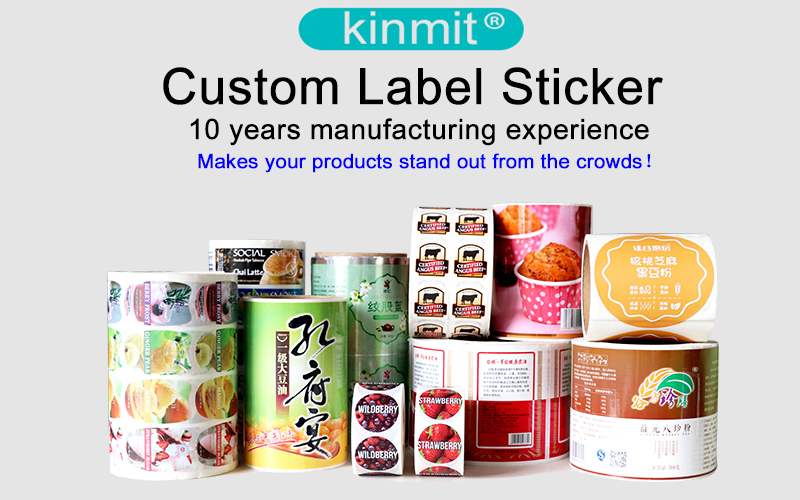 Custom Waterproof Clear Plastic Label Stickers Printing