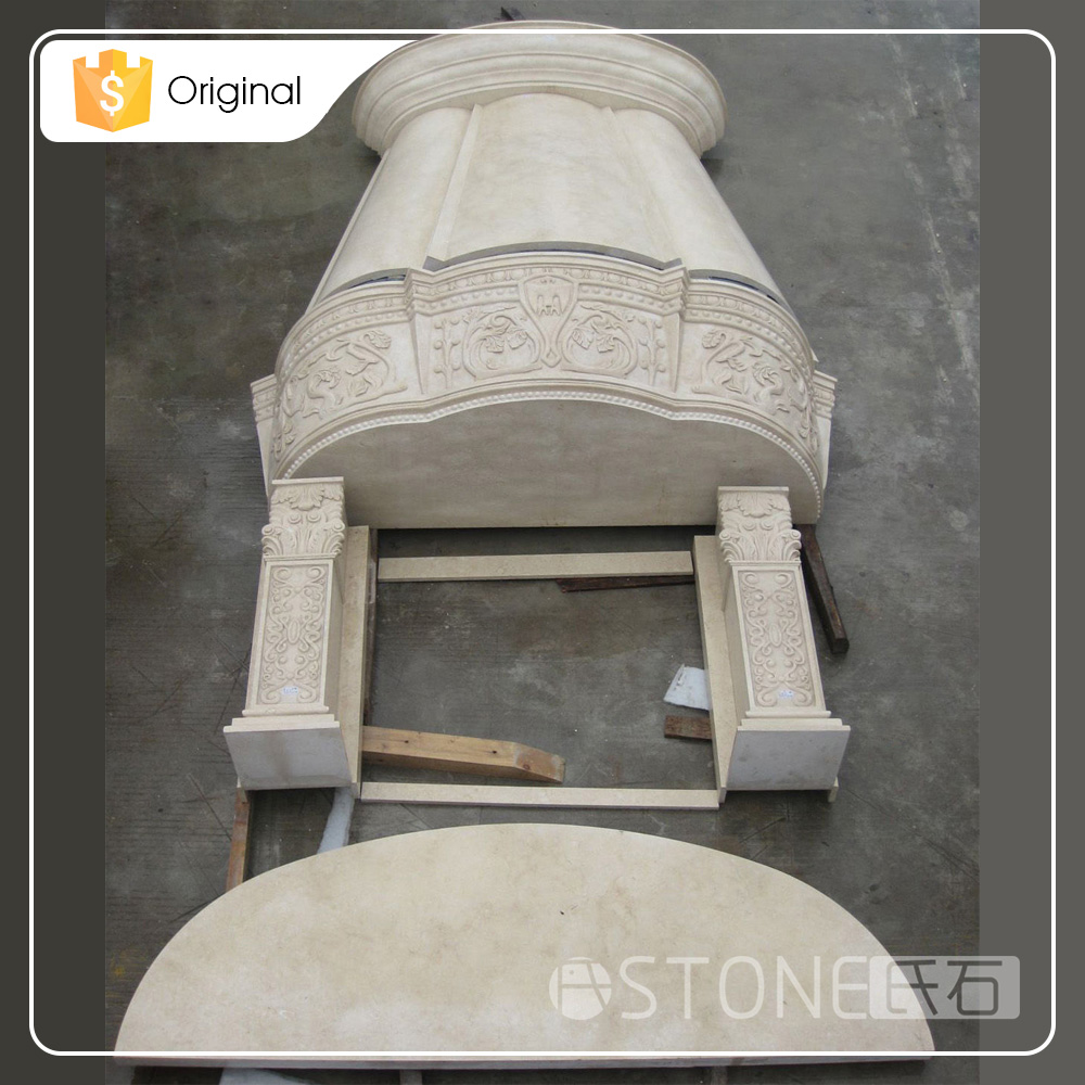 Wholesale China Factory Modern Luxury Corner Fireplace Mantel Design