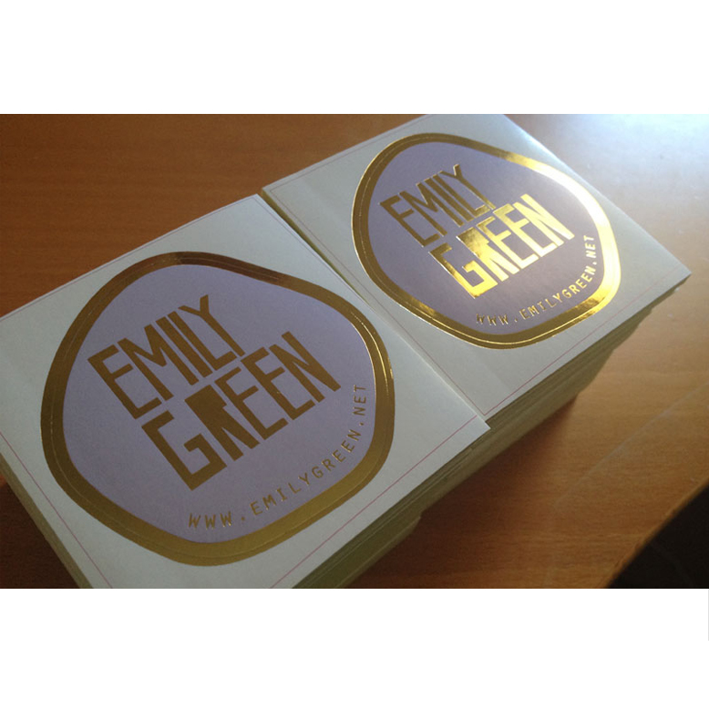 Custom plastic transparent brand logo stickers