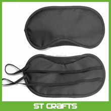 Sleep over eye mask-high-quality black eye mask , new design cute satin silk sleep cover eye mask
