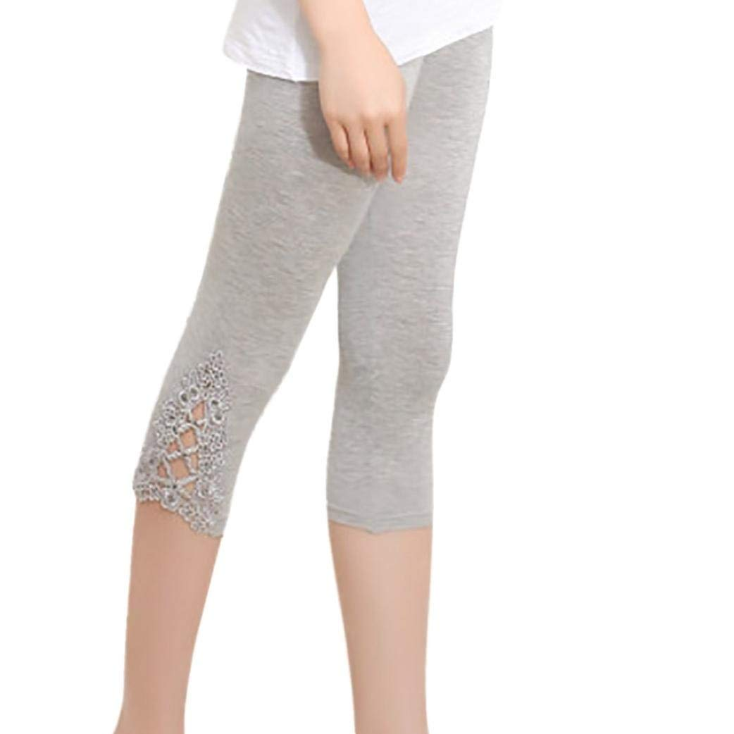 d99abc2a496e6e Get Quotations · Nacome Yoga Short Pants for Women,Yoga Lace Pants Mid &  High-Waist Tummy