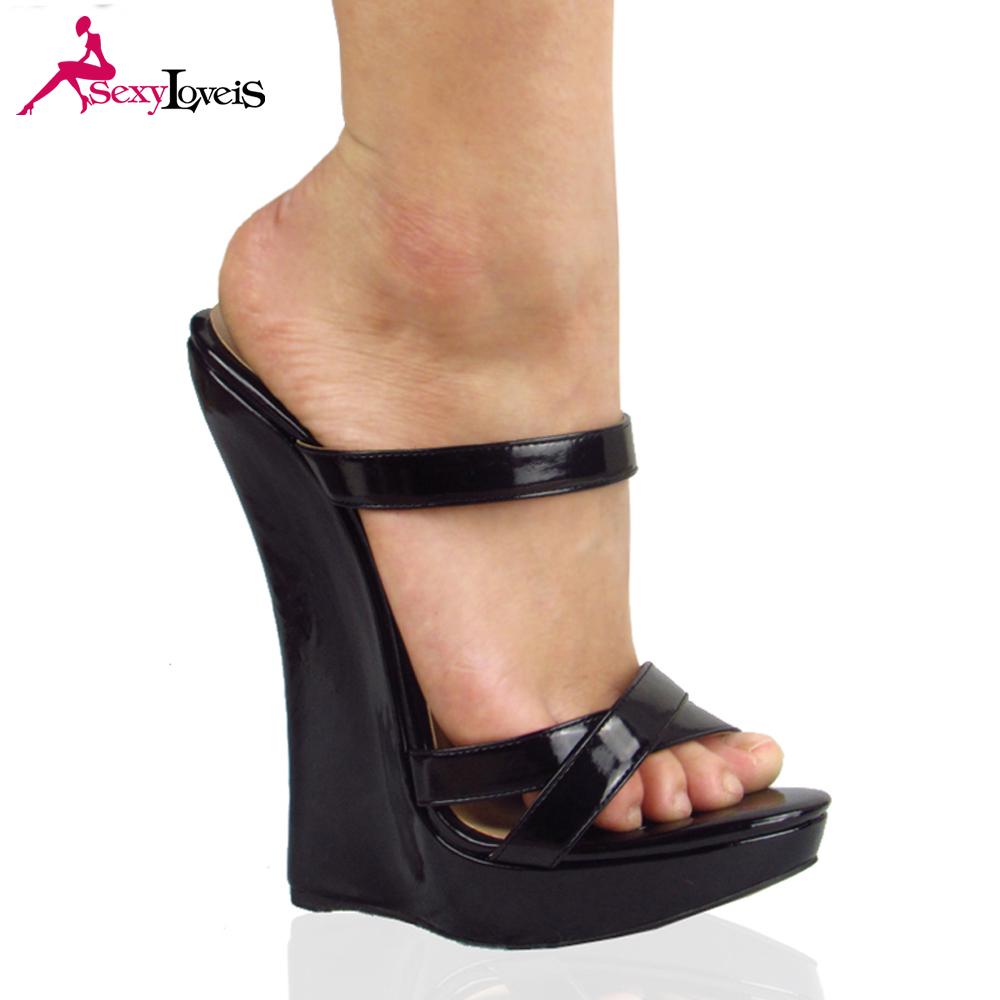 69027ef56a popular lady wedge sandals woman high heel shoes girls sex platform sandals  no heels