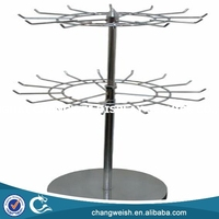 metal table top rotating display stand for accessories