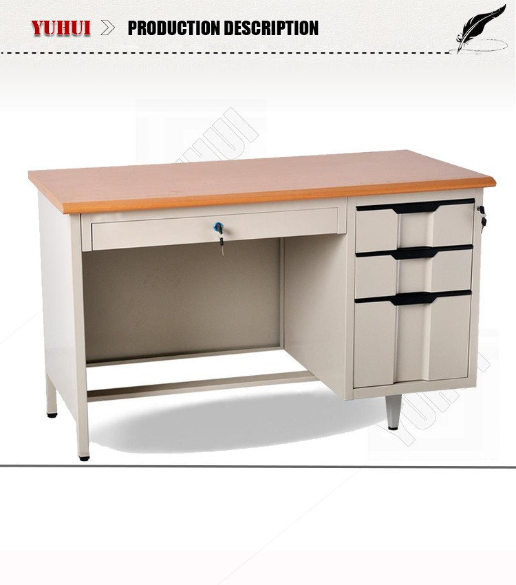 Asian Office Furniture Lockable Drawer Computer Desk Office Table