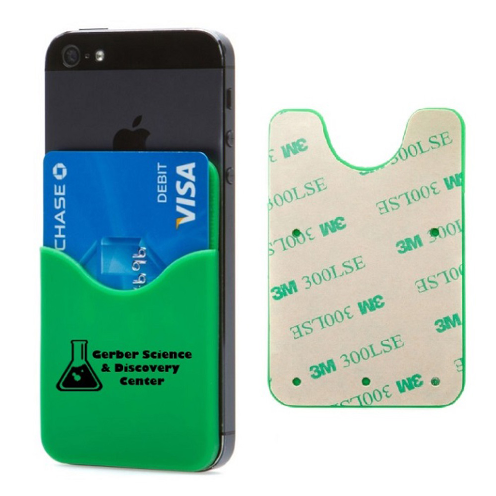 Custom Logo 3m Business Card Holder,Stick On Phone Wallet - Buy ...