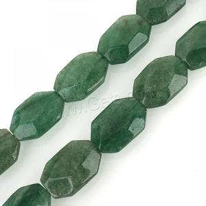 Green Aventurine Bead Rectangle faceted 25x17x8mm Hole: 2mm 15PCs/Strand Sold Per 15.5 Inch Strand 1315288