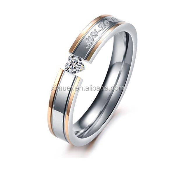 Couple Engagement Wedding RingsStainless Steel Jewelry Rings