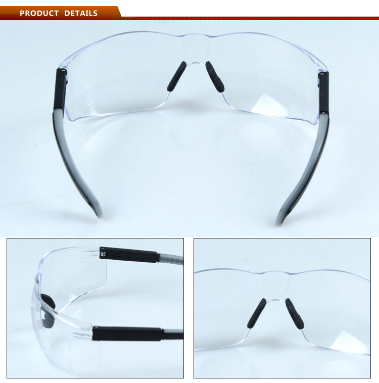 Transparent eye protection glasses for working