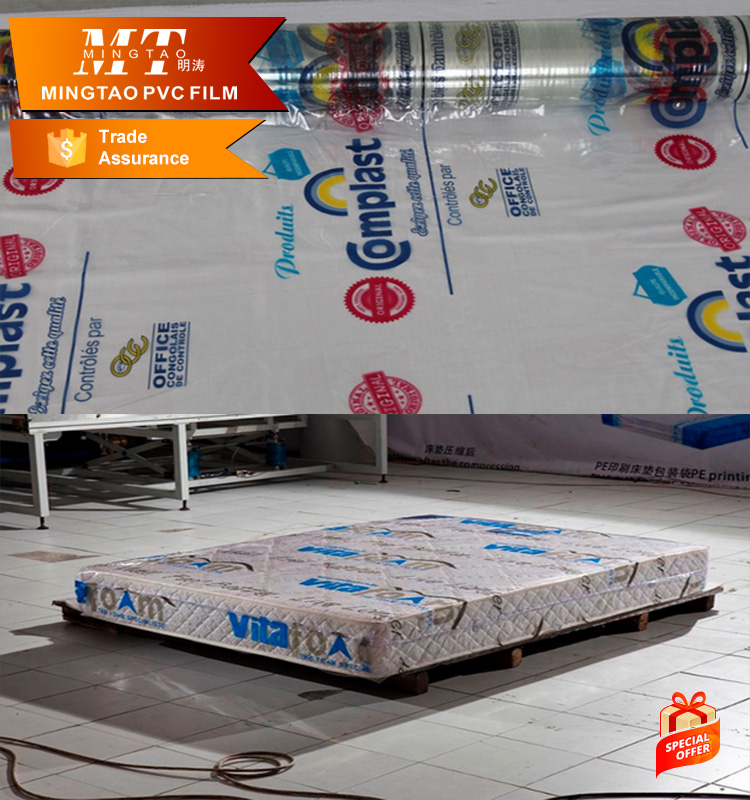 Dust-Proof Matras Roll Verpakking Sexy Hot Plastic Dunne Pvc Film
